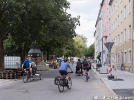 Schon jetzt (und schon lange Zeit) radeln viele auf der Kirchenstraße