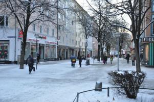 Bestehende Fußgängerzone zwischen Weißenburger Platz und Rosenheimer Platz Anfang Februar 2021 (©PeterMartl)