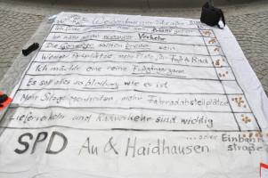 Die Bodenzeitung mit den Fragen zur Weißenburger Straße