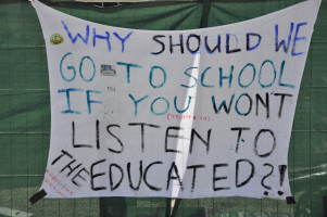"Transparent: ""Why should we go to school if you won't listen to the educated?!"""