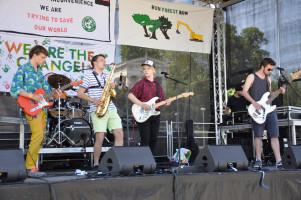 Bühne und Band