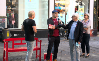 StR Nikolaus Gradl im Gespräch mit Klaus Kastan (©PeterMartl)