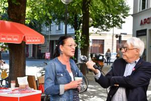 MdB Claudia Tausend im Interview mit Klaus Kastan (©PeterMartl)