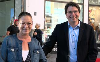 MdB Claudia Tausend und MdL Florian v. Brunn, Vorsitzender SPD Landtagsfraktion und Co-Vorsitzender der BayernSPD (©PeterMartl)