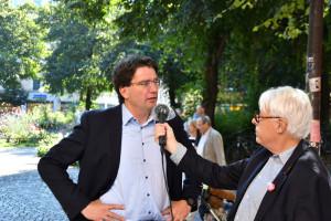 MdL Florian v. Brunn im Interview mit Klaus Kastan (©PeterMartl)