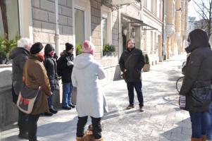 Gruppe am St.-Pauls-Platz