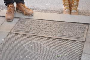Text am Bodendenkmal zur Erinnerung an die Ermordung von Kurt Eisner