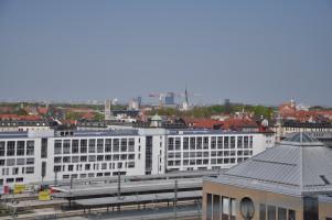 Blick vom Dach, diverse Hochhäuser, St. Johann Baptist (Alte Kirche), Prinzregententheater