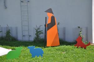 Blechskulpturen (Schafe, Schäfer, Hund)
