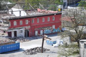 Blick vom Dach, Baustelle »Optimolwerke«