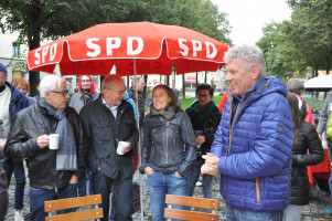 OB Reiter, Personen unter rotem SPD-Schirm