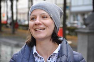 Stadträtin Anne Hübner begrüßt die Besucher
