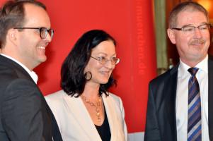 Markus Rinderspacher (MdL, Fraktionsvors.), Claudia Tausend (MdB, Vors. SPD Mch.), Alexander Reissl, (StR, Fraktionsvors.)