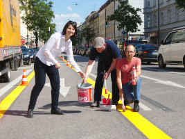 Stadträtin Anne Hübner, Stadtrat Andreas Schuster und Stadtrat Nikolaus Gradl