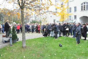 Besucher bei der Veranstaltung auf dem Gelände der ehemaligen Unionsbrauerei
