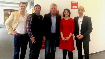 Sebastian Preiß, Andreas Schuster, OB Dieter Reiter, Stadträtin Anne Hübner, Nikolaus Gradl (von links)