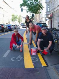 Nina Reitz (BA5), Lena Sterzer (BA5), Nikolaus Gradl (ea. StR) und Andreas Schuster (ea. StR)