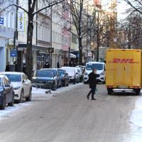 Weißenburger Straße Anfang Februar 2021