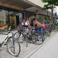 Radlständer, ehemals KfZ-Parkplatz in der Weißenburger Straße beim Orleansplatz