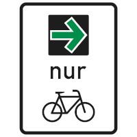 Verkehrszeichen Grüner Pfeil für Radfahrer