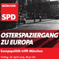 Plakatausschnitt mit Veranstaltungszeit und SW-Foto vom Marienplatz