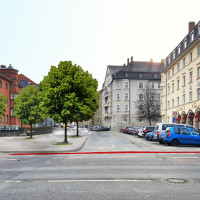 So könnte der Platz vor St. Gabriel aussehen (©Anno
