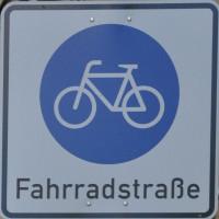"""Abbildung Verkehrsschild """"Fahrradstraße"""""""