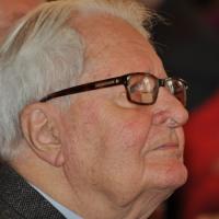 Hans-Jochen Vogel, Porträt beim Dreikönigstreffen der Münchner SPD 2016 (P. Martl)